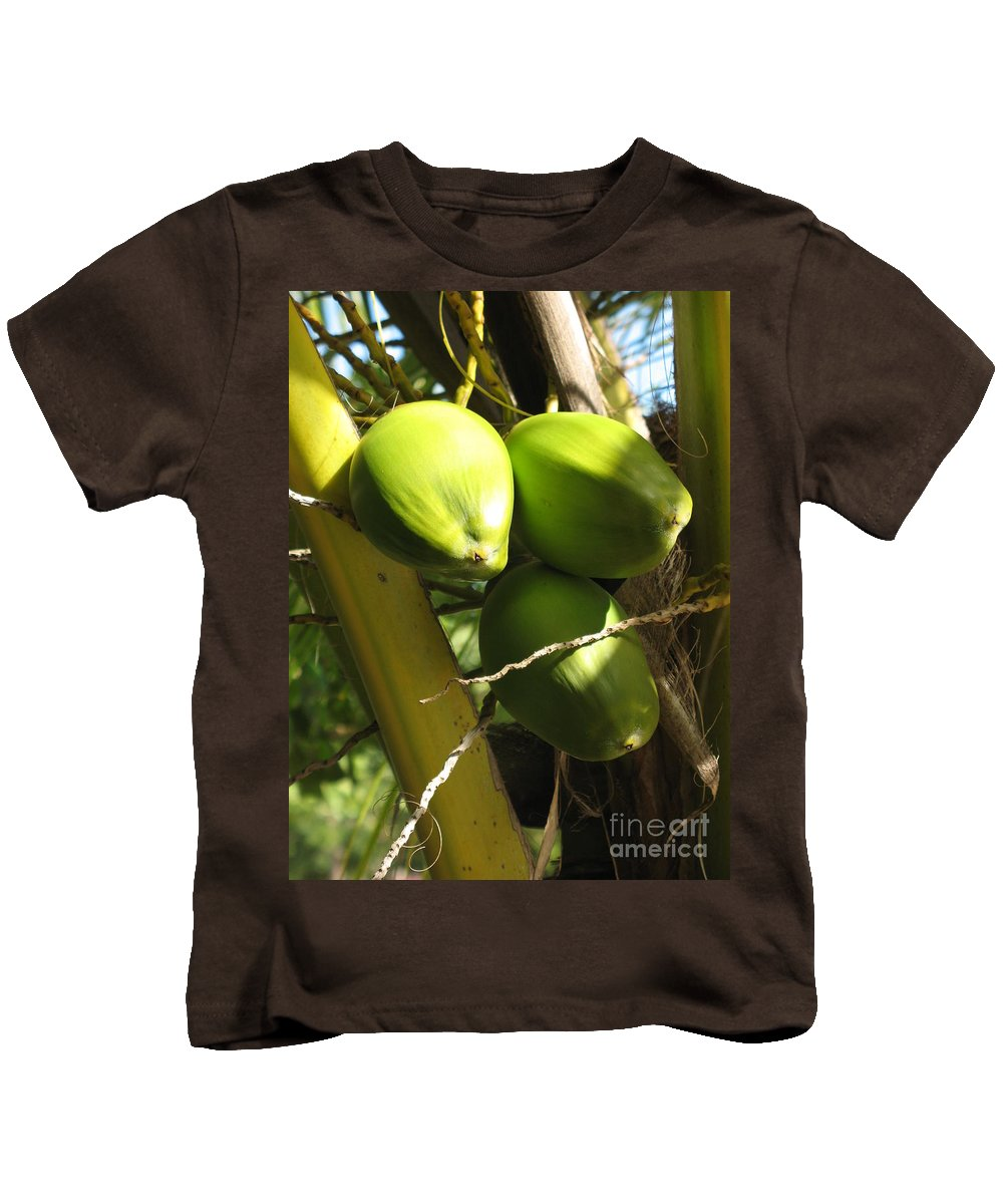 Coconut Kids T-Shirt featuring the photograph Coconuts by Christiane Schulze Art And Photography