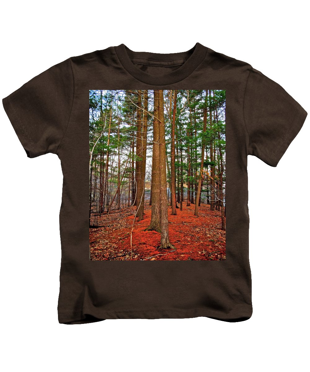 Forest Kids T-Shirt featuring the photograph Colorful Carolina Forest by Frozen in Time Fine Art Photography