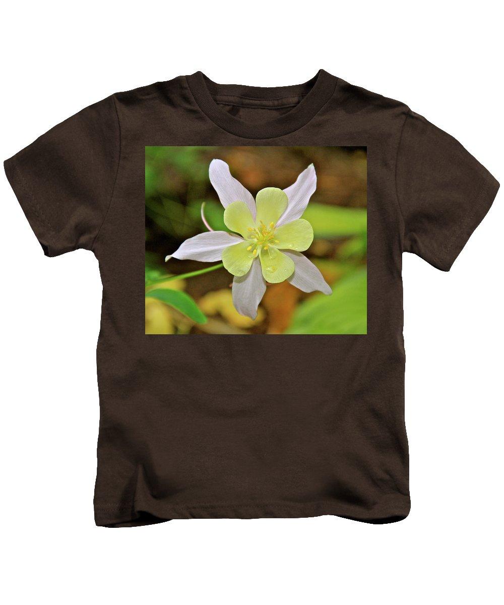 Garden Kids T-Shirt featuring the photograph Columbine Charlie's Garden by Ed Riche