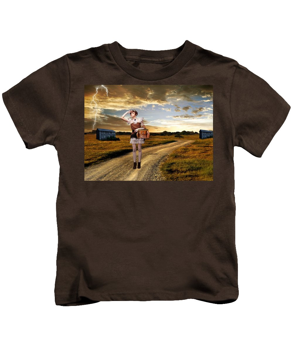 Dream Kids T-Shirt featuring the photograph Coming Home by Ester Rogers