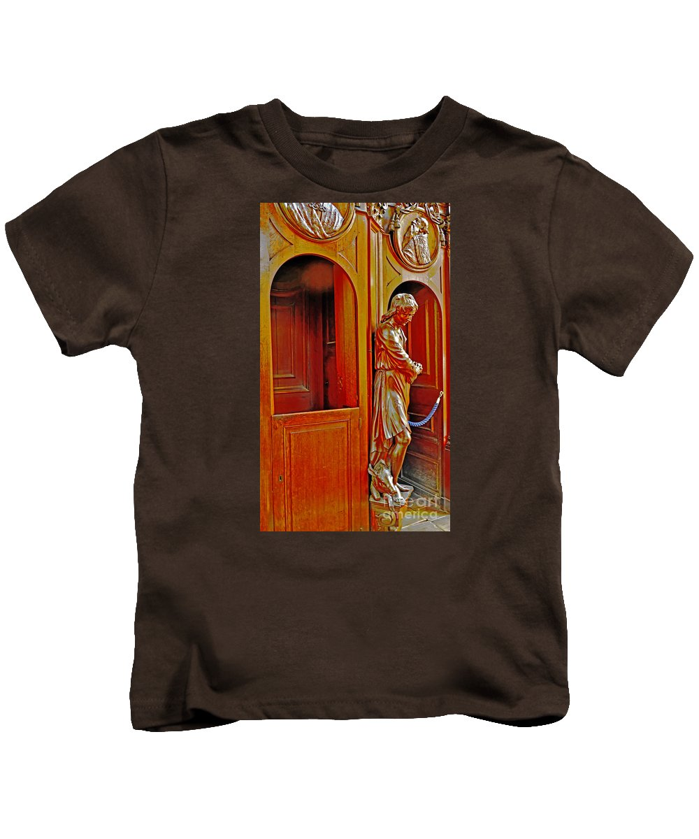 Travel Kids T-Shirt featuring the photograph Confessional Halo by Elvis Vaughn