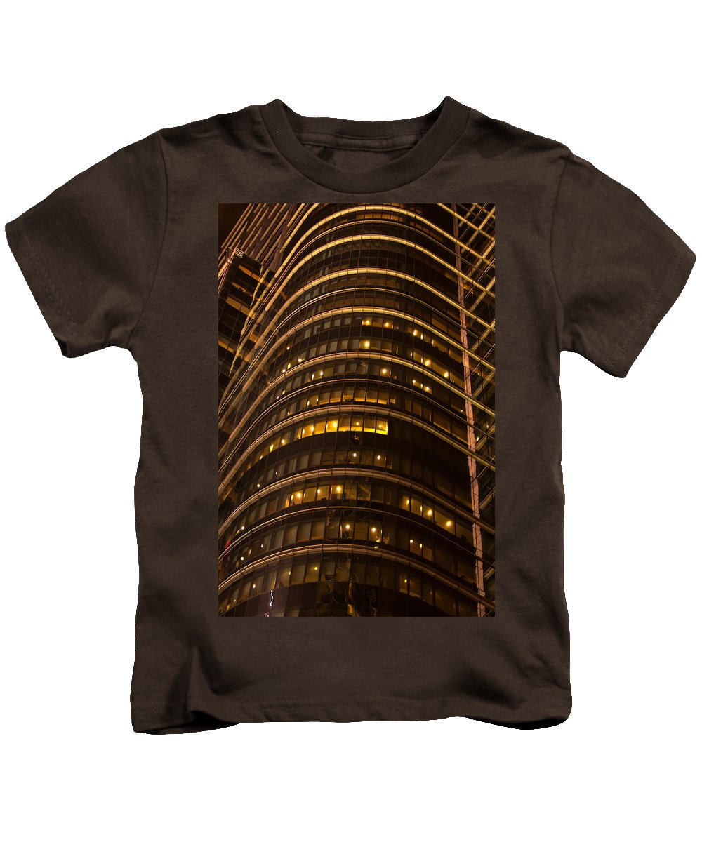 """new York City"" Kids T-Shirt featuring the photograph Converging Lines by Paul Mangold"