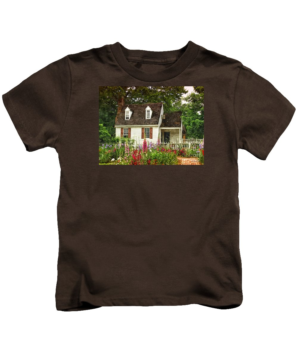 Cottage Kids T-Shirt featuring the painting Cottage by Shari Nees