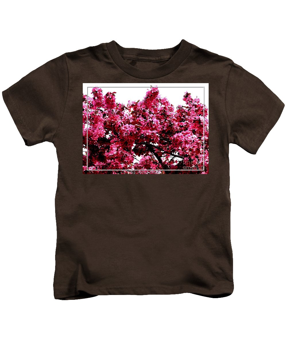 Crabapple Blossoms Kids T-Shirt featuring the photograph Crabapple Tree Blossoms by Rose Santuci-Sofranko