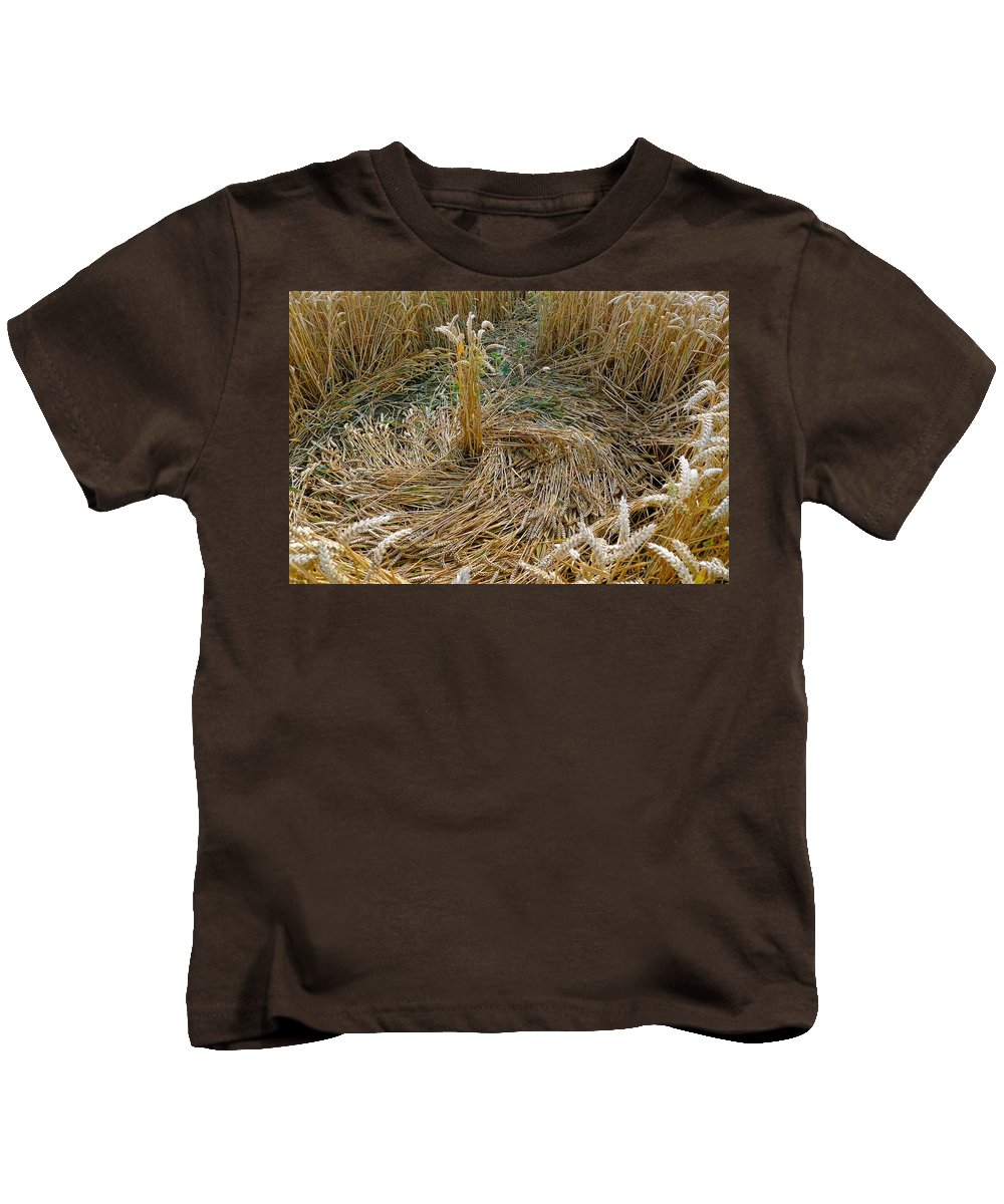 Crop Kids T-Shirt featuring the photograph Crop Circle Spiral by Denise Mazzocco