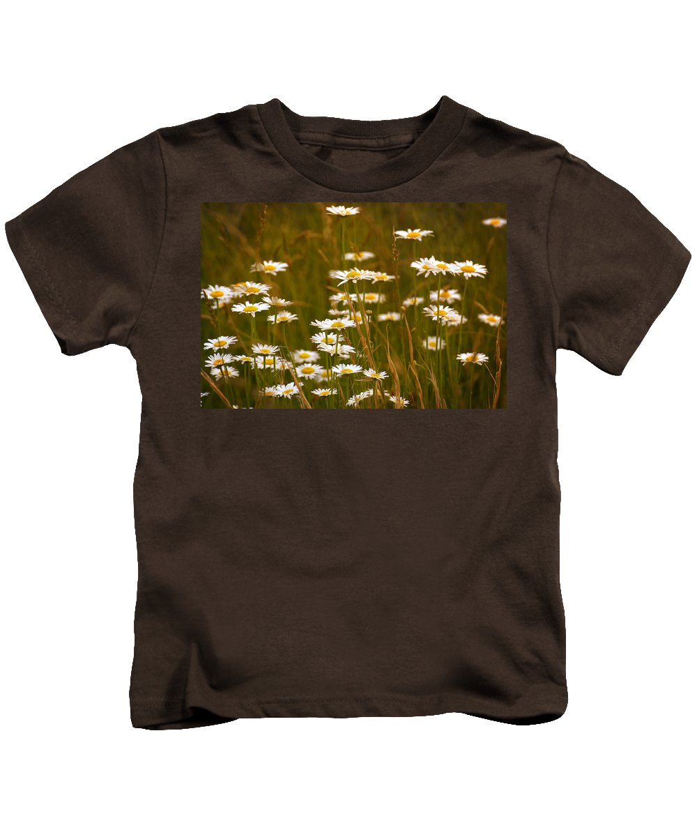 Daisies Kids T-Shirt featuring the photograph Daisies by Mel Hensley