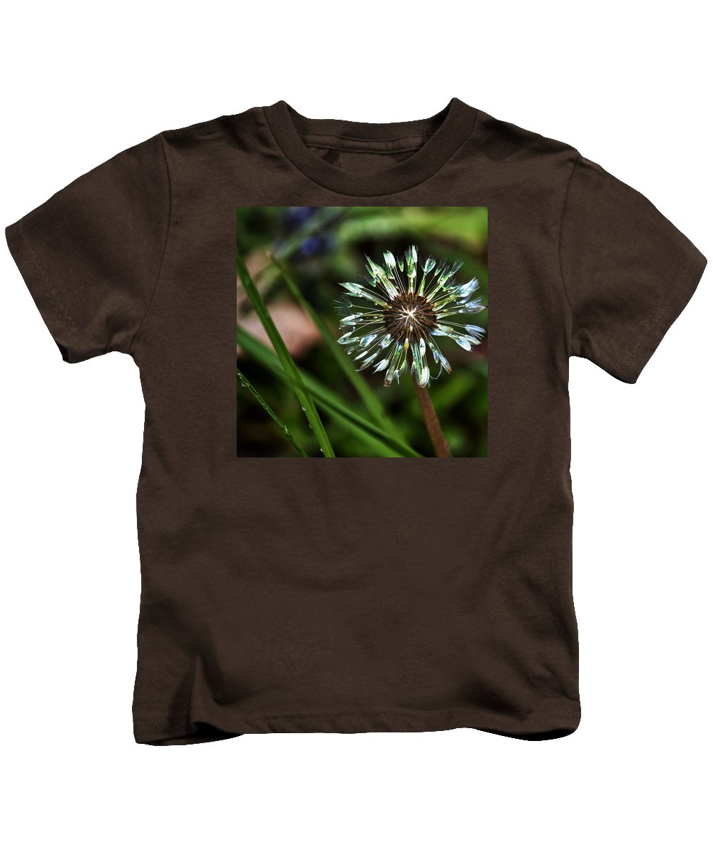 Dandelion Kids T-Shirt featuring the photograph Dandelion Will Make You Wise by Belinda Greb