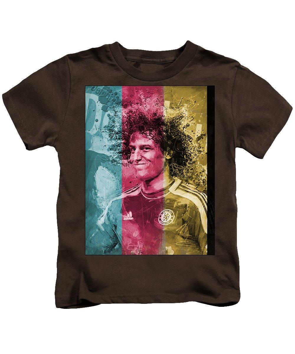 David Luiz Kids T-Shirt featuring the painting David Luiz - C by Corporate Art Task Force