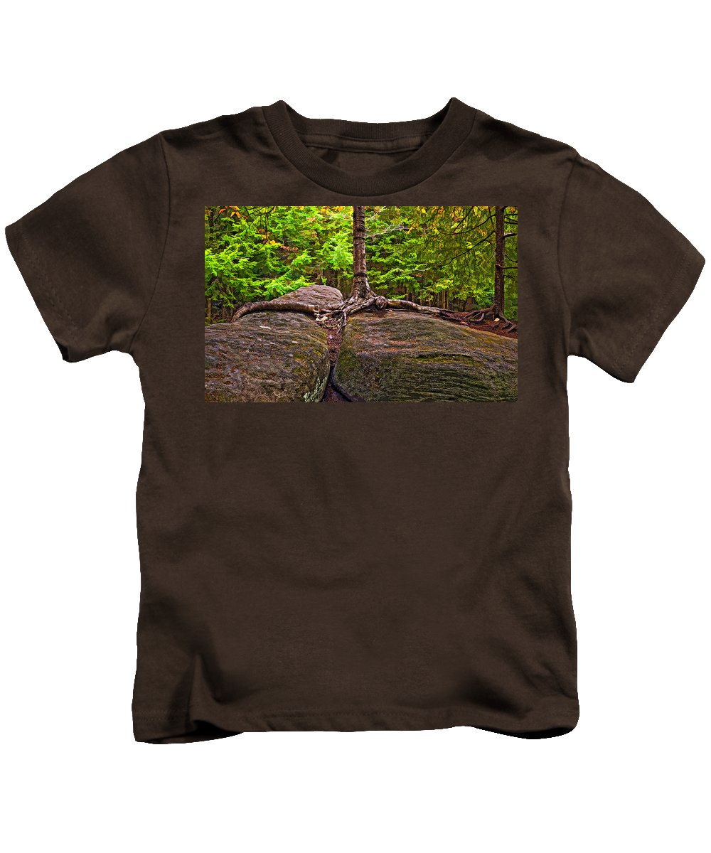 West Virginia Kids T-Shirt featuring the photograph Determination Painted by Steve Harrington