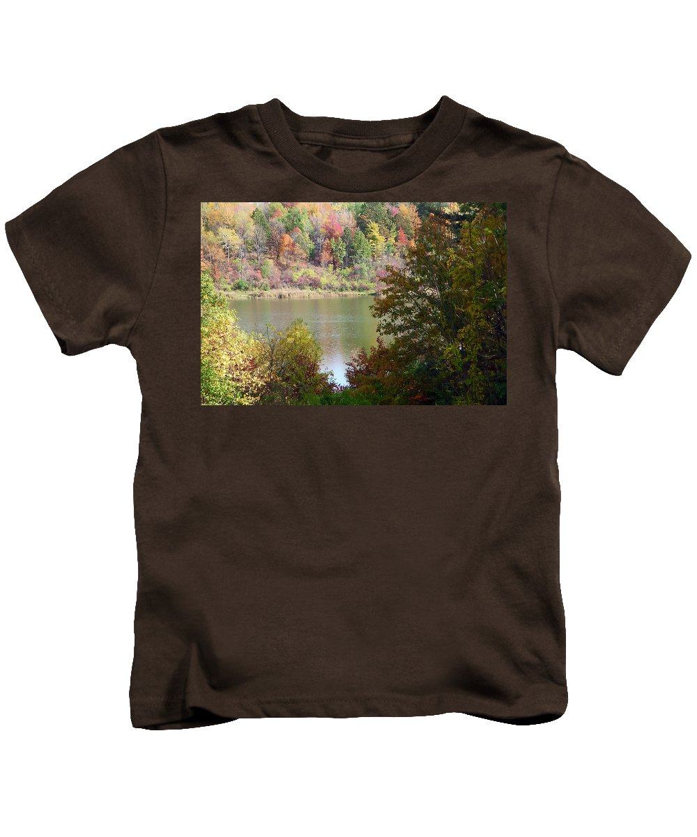 Autumn Kids T-Shirt featuring the photograph Devils Bathtub by Aimee L Maher ALM GALLERY