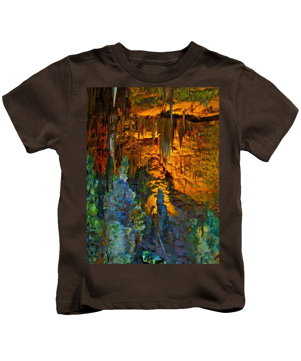 Cave Kids T-Shirt featuring the photograph Devils Cavern Bari Greece by Tim G Ross