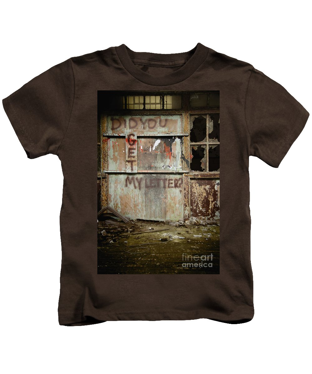 Wall Kids T-Shirt featuring the photograph Did You Get My Letter? by Margie Hurwich