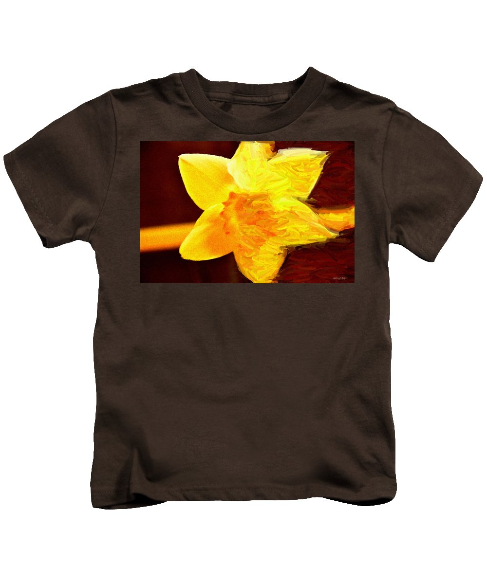 Bloom Kids T-Shirt featuring the painting Disintegration by Jeffrey Kolker