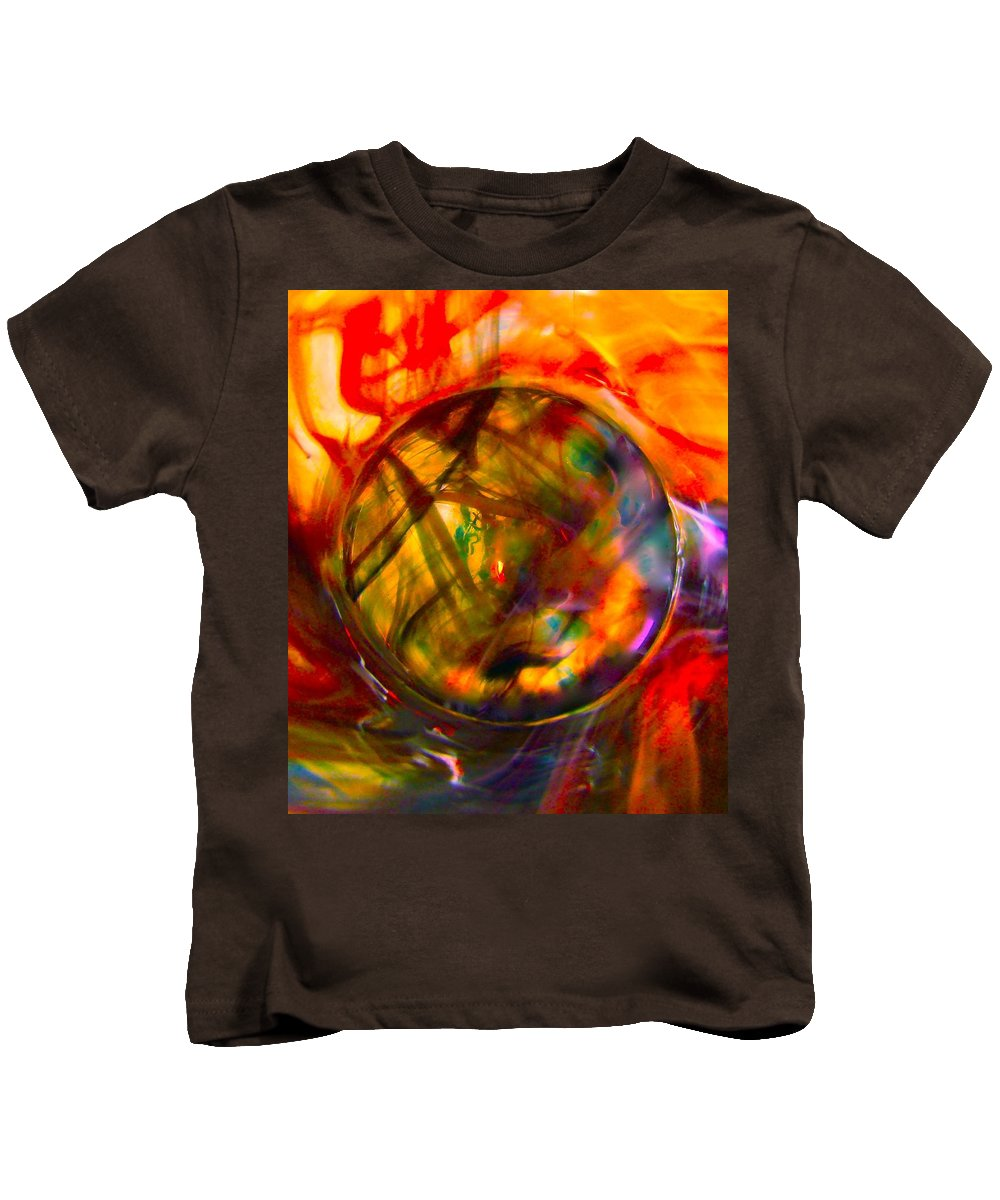 Dragons Kids T-Shirt featuring the photograph Dragon Travel Sphere by Tim G Ross