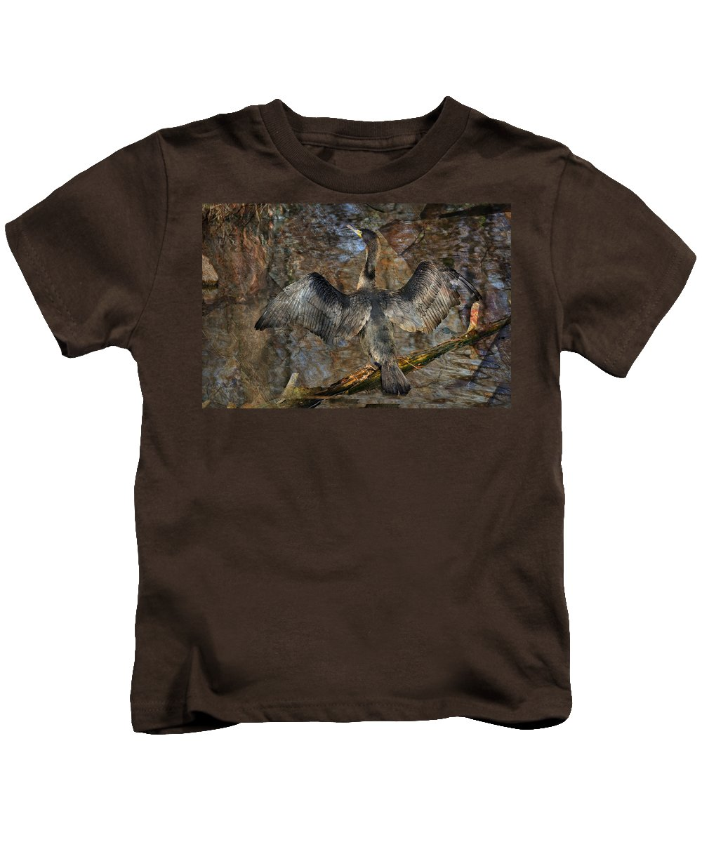 Waterfowl Kids T-Shirt featuring the photograph Drying Time by Marty Koch