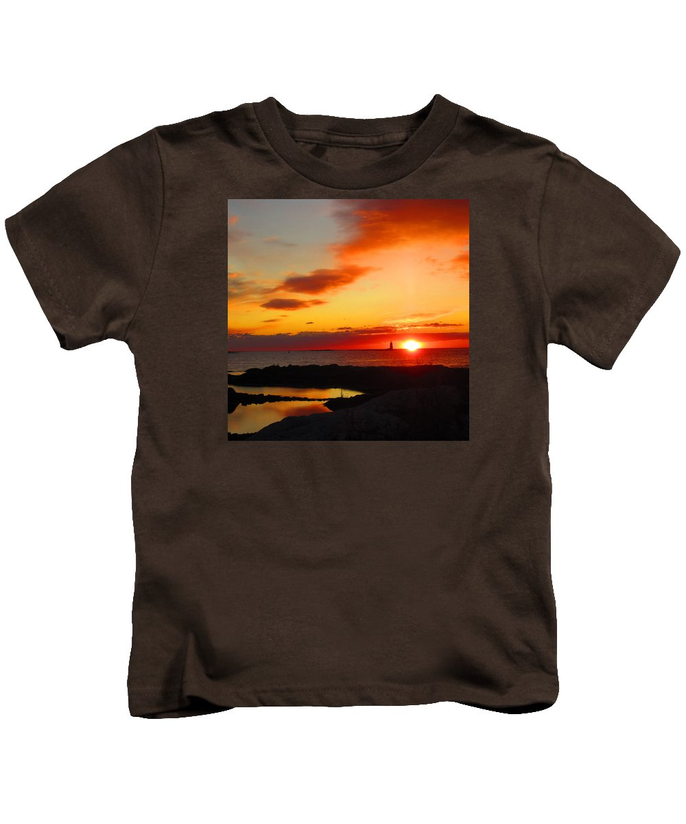 Nh Kids T-Shirt featuring the photograph East Coast Sunrise by Jeffrey Akerson