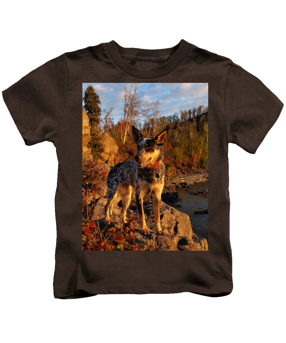 Peterson Nature Photography Kids T-Shirt featuring the photograph Edge Of Glory by James Peterson