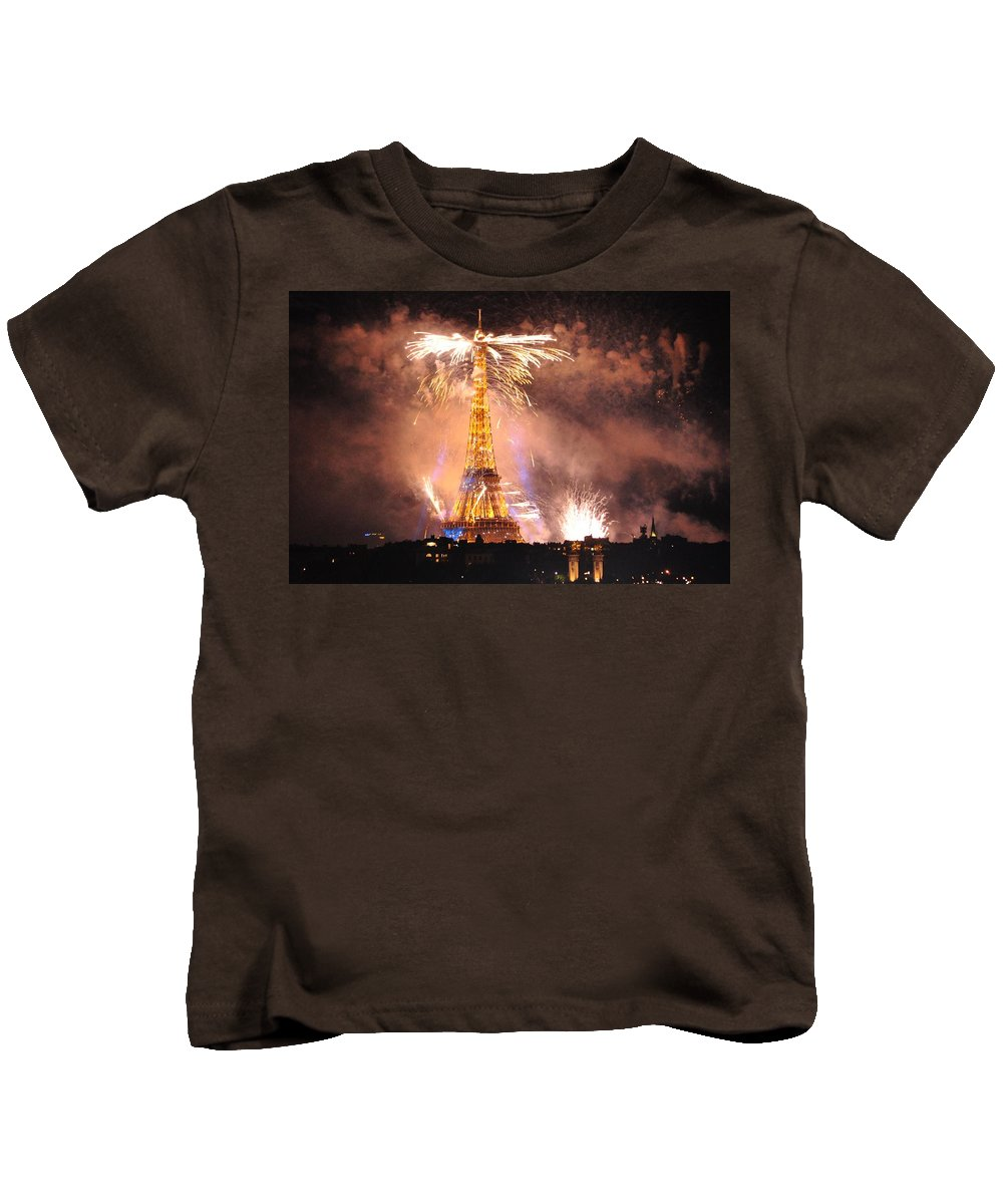 Landscape Kids T-Shirt featuring the photograph Eiffel Hat by Csilla Florida