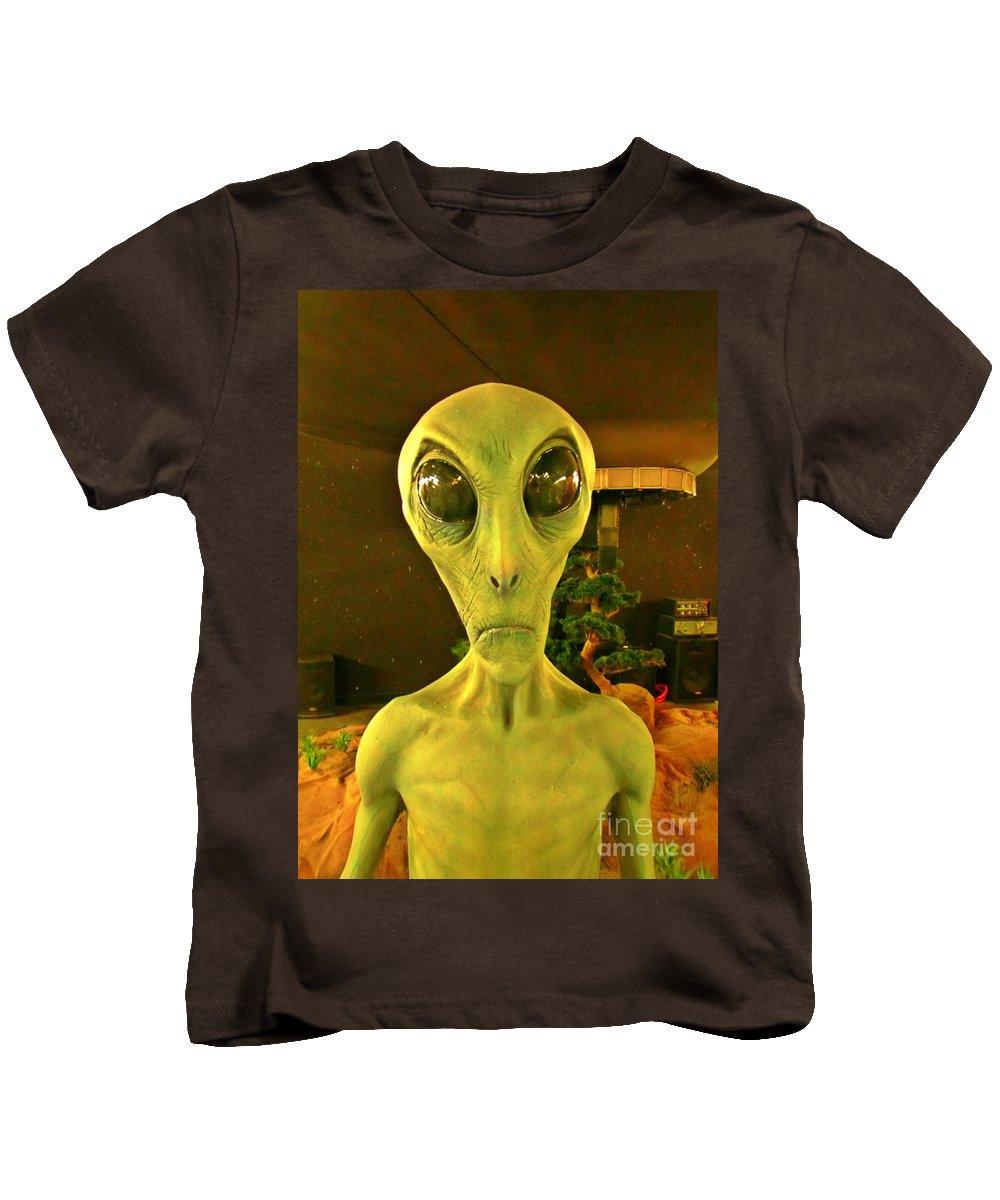 Aliens Kids T-Shirt featuring the photograph Elderly Alien by John Malone