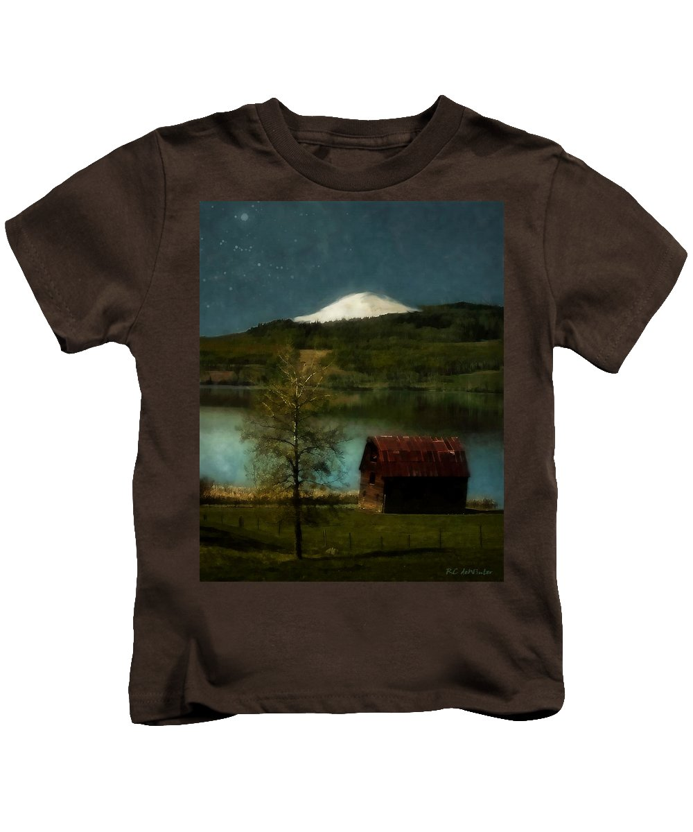 Landscape Kids T-Shirt featuring the painting Excellence And Peace by RC DeWinter