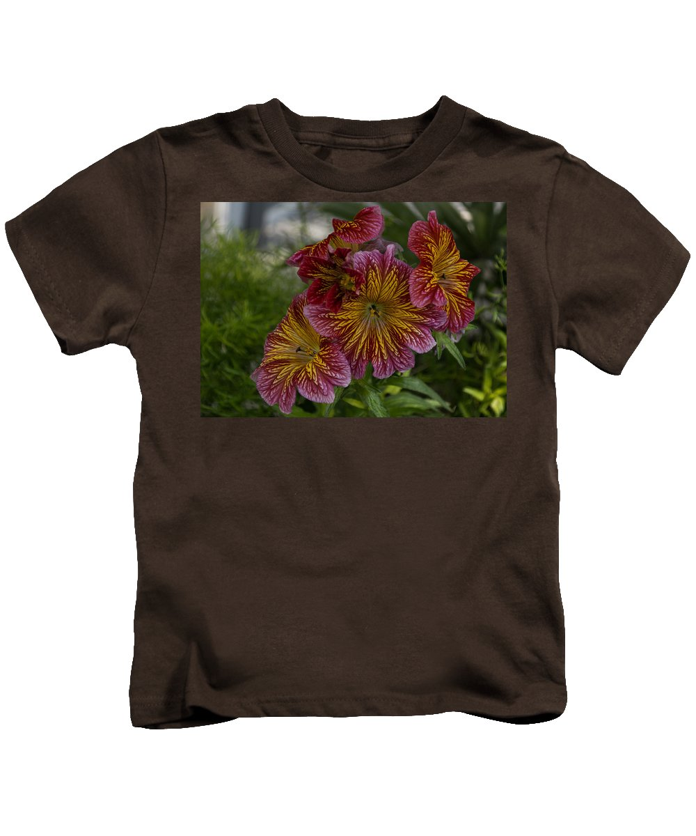 Exotic Flowers Kids T-Shirt featuring the photograph Exotic Spring Flowers by Georgia Mizuleva