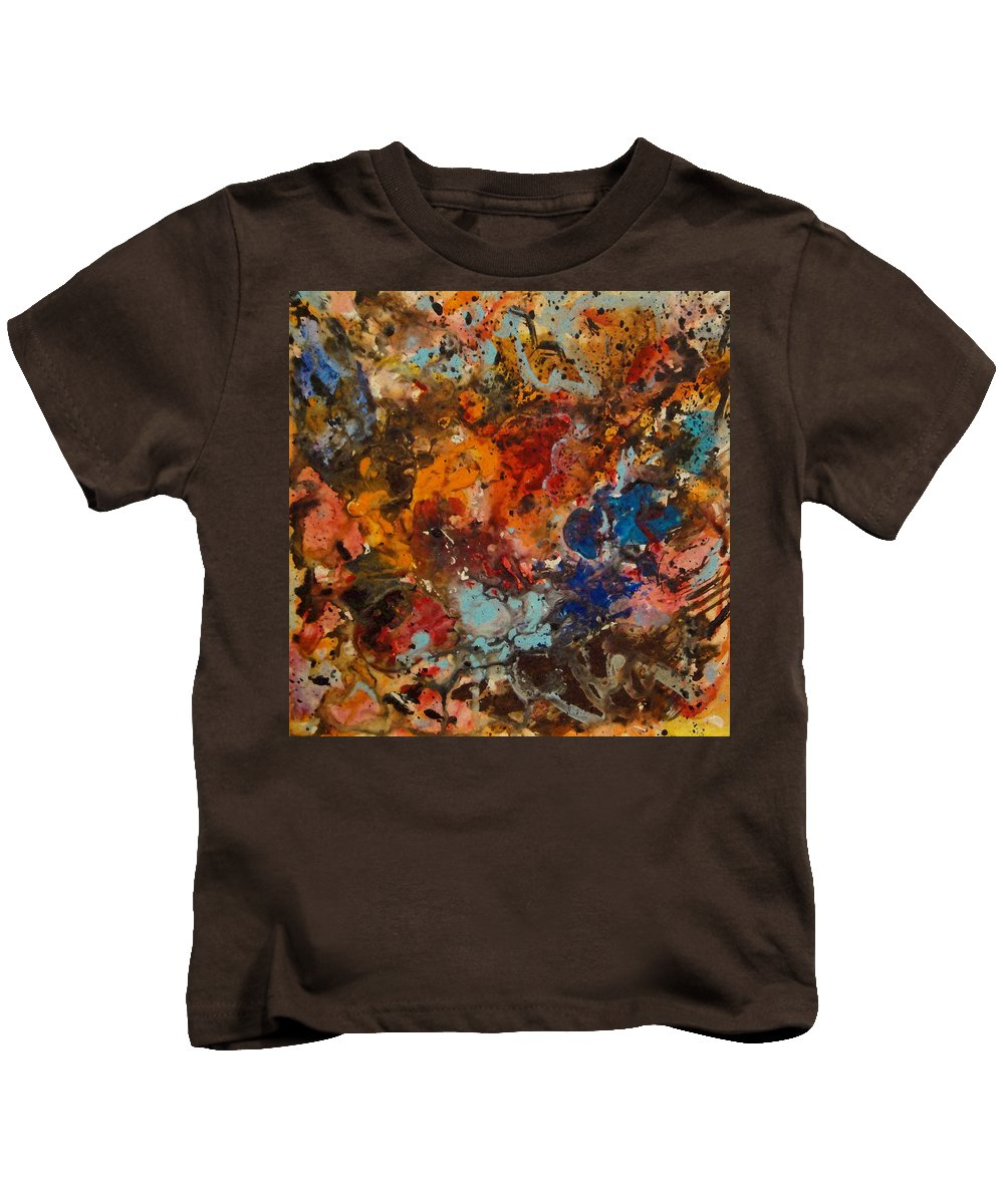 Expressionism Kids T-Shirt featuring the painting Explosive Chaos by Natalie Holland