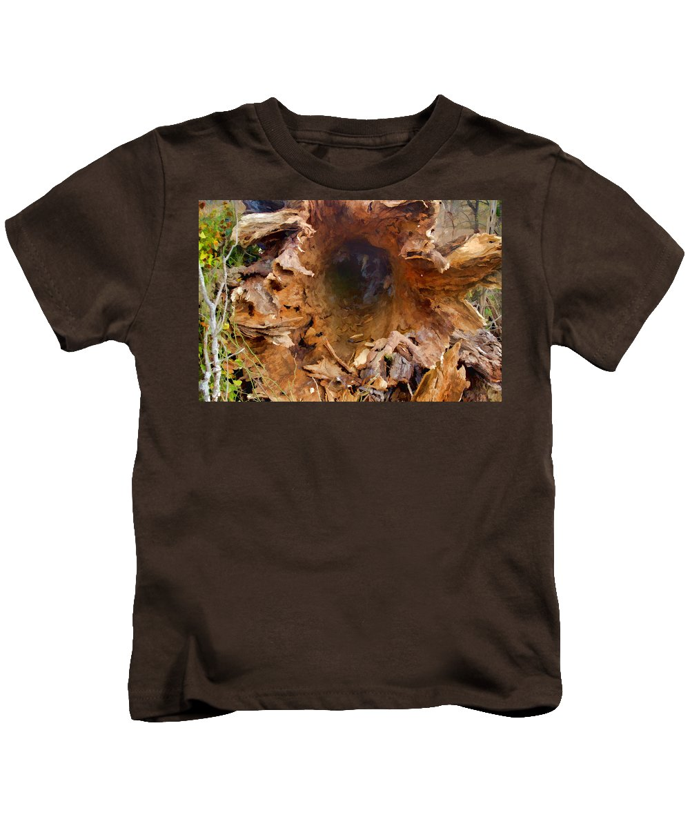 Wind Kids T-Shirt featuring the photograph Fallen Giant by Gary Holmes