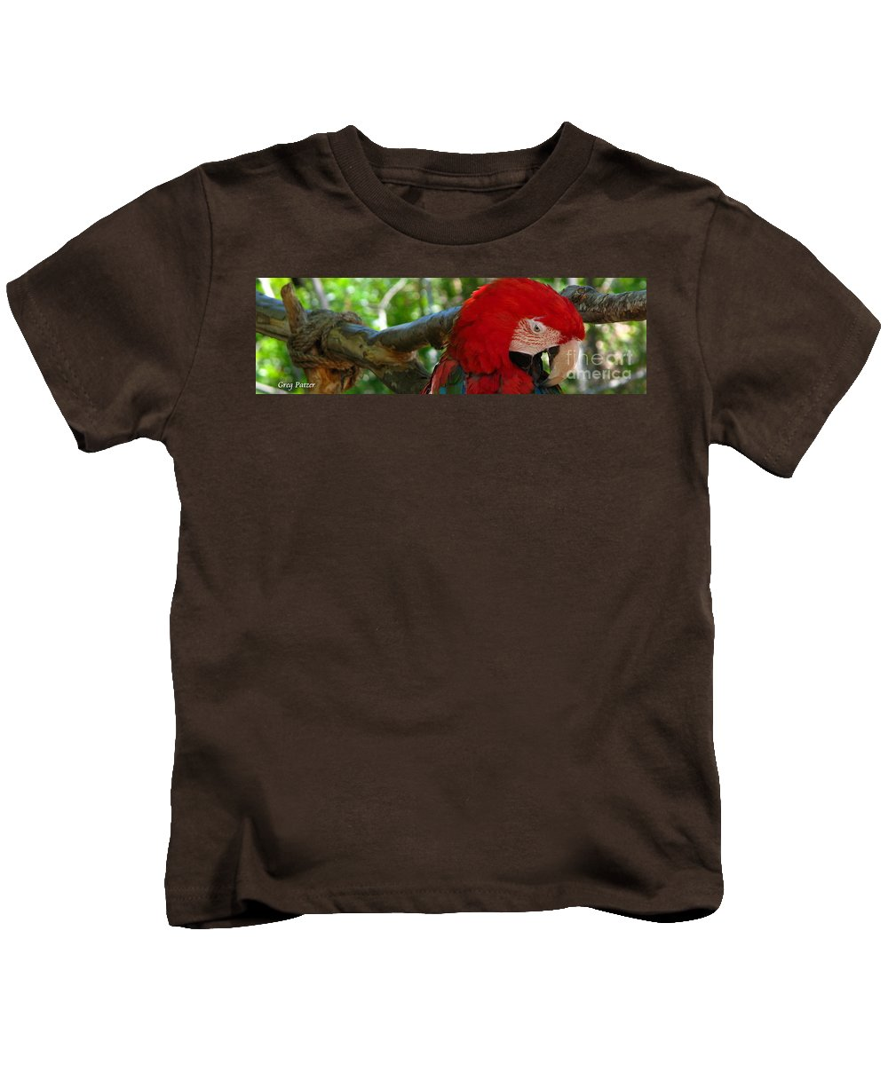 Patzer Kids T-Shirt featuring the photograph Feeling A Little Red by Greg Patzer