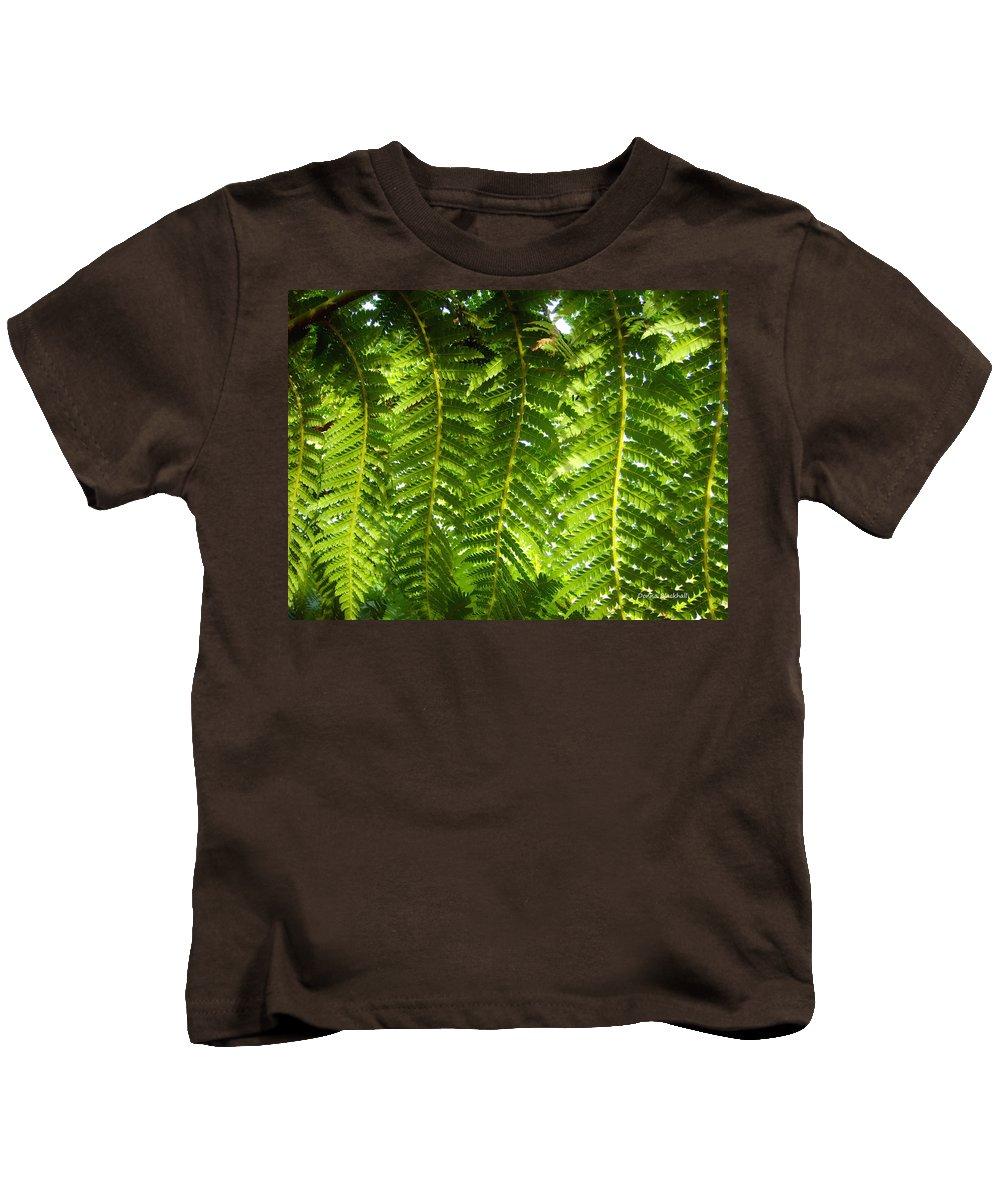 Fern Kids T-Shirt featuring the photograph Fern Dance by Donna Blackhall