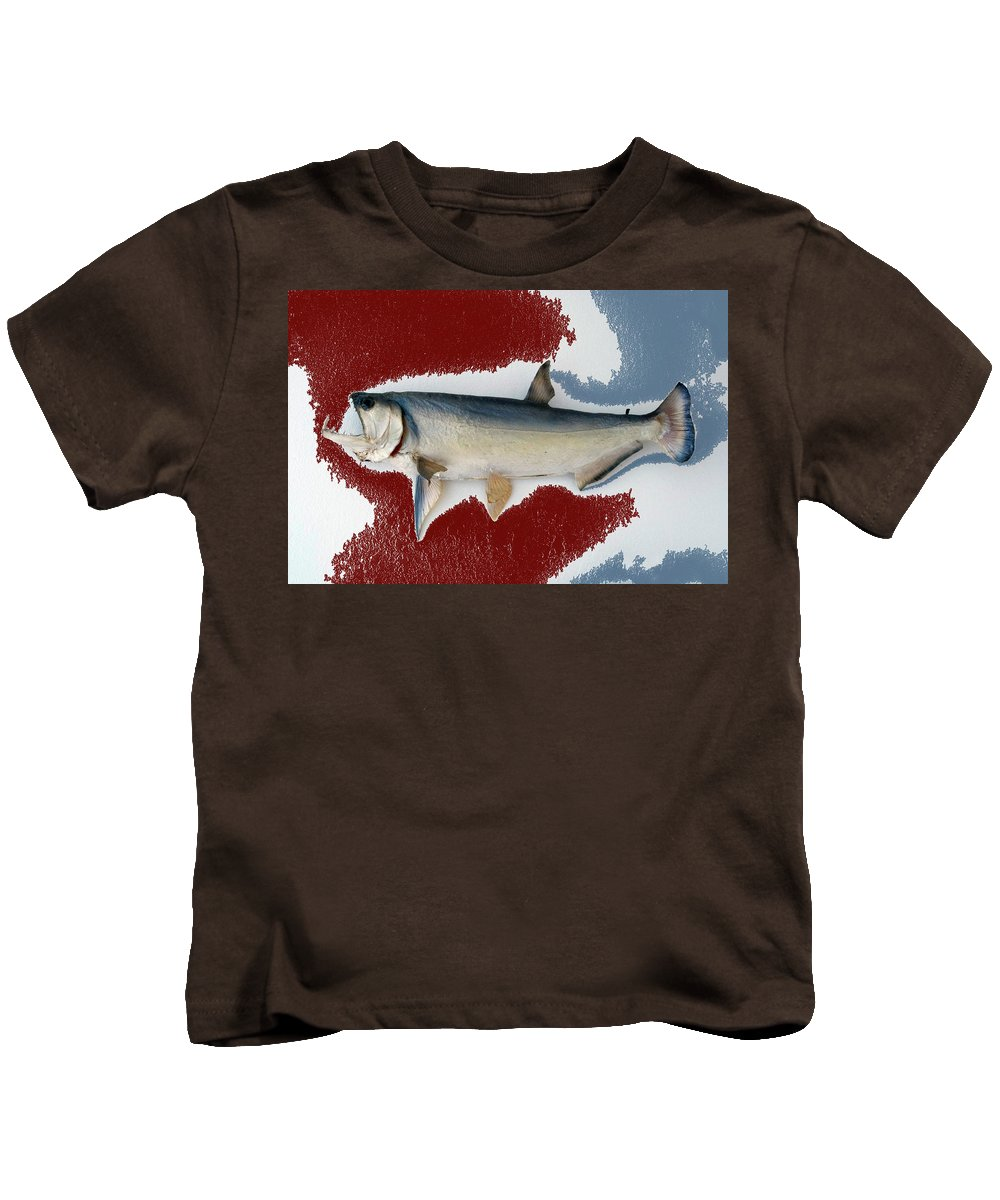 Animals Kids T-Shirt featuring the photograph Fish Mount Set 01 C by Thomas Woolworth