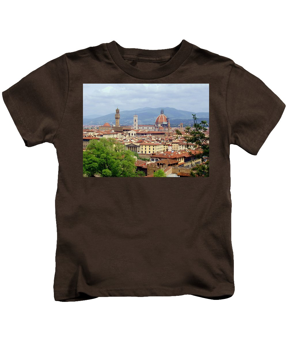 Florence Kids T-Shirt featuring the photograph Florence by Ellen Henneke
