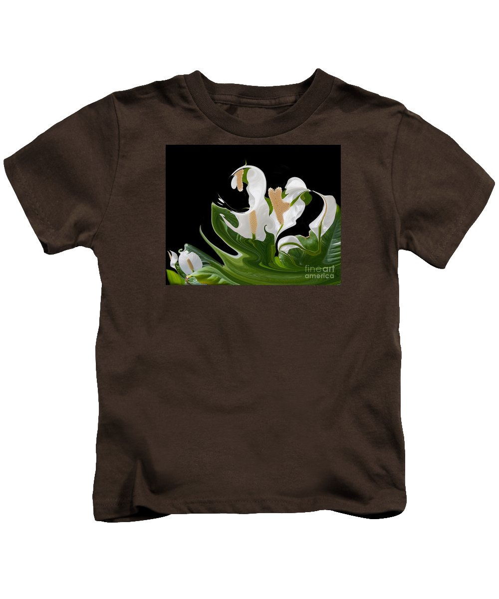 Abstract Kids T-Shirt featuring the photograph Flower Power Abstract by TN Fairey