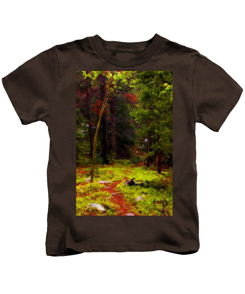 Forest Kids T-Shirt featuring the photograph Follow The Trail by David Sanchez