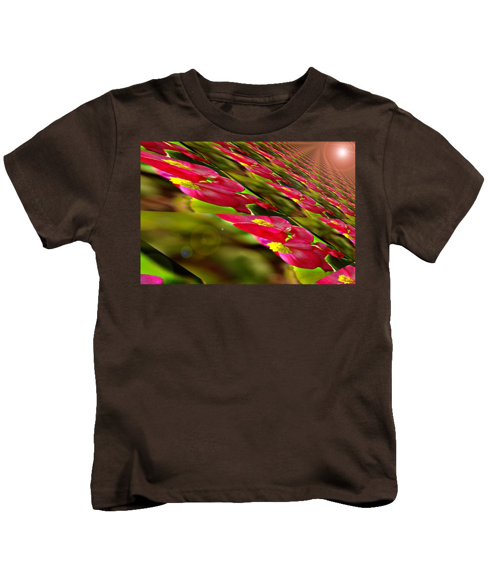 Flowers Kids T-Shirt featuring the photograph From A Bugs Eye by Jeff Swan
