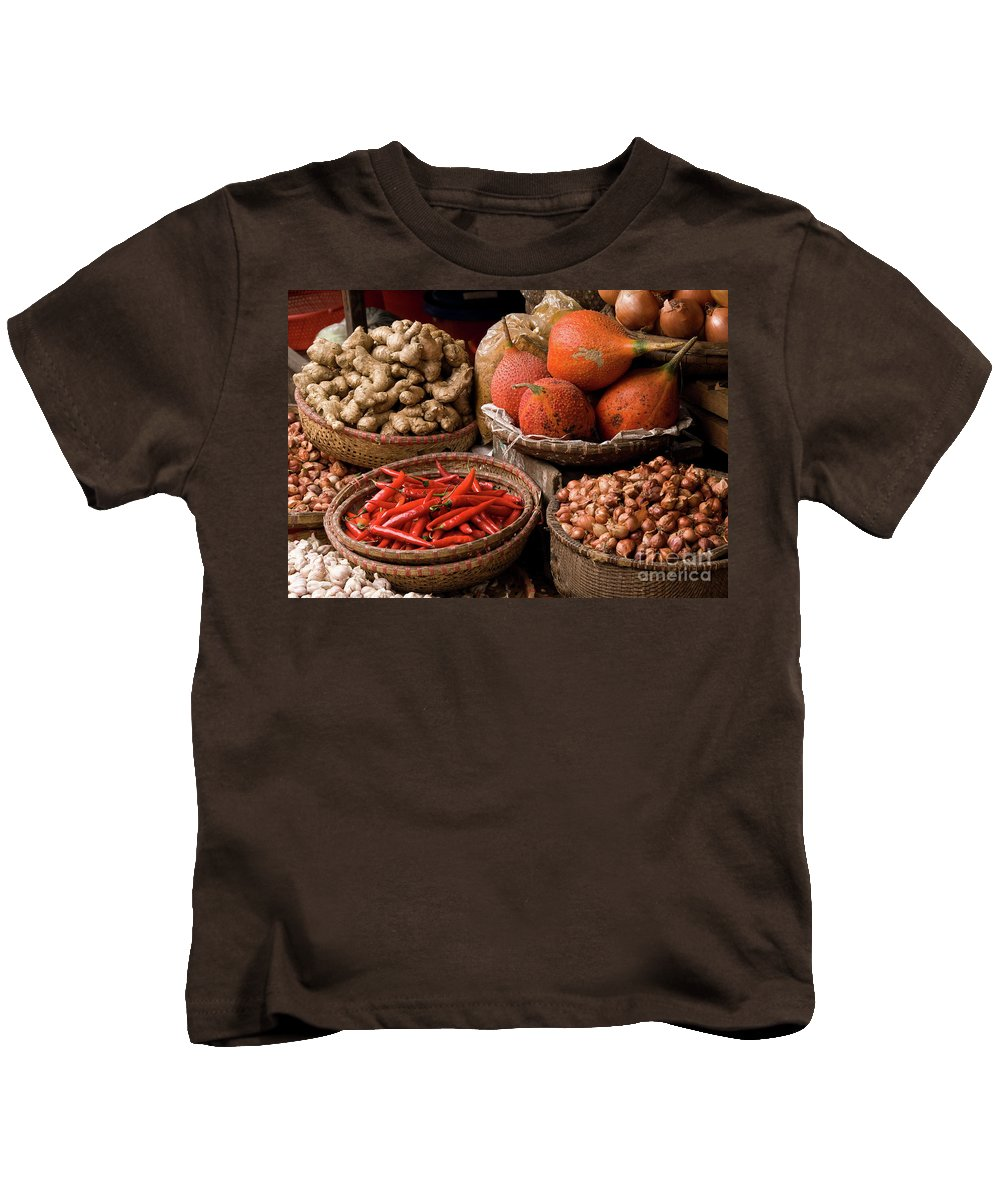Basket Kids T-Shirt featuring the photograph Gac Fruit 01 by Rick Piper Photography