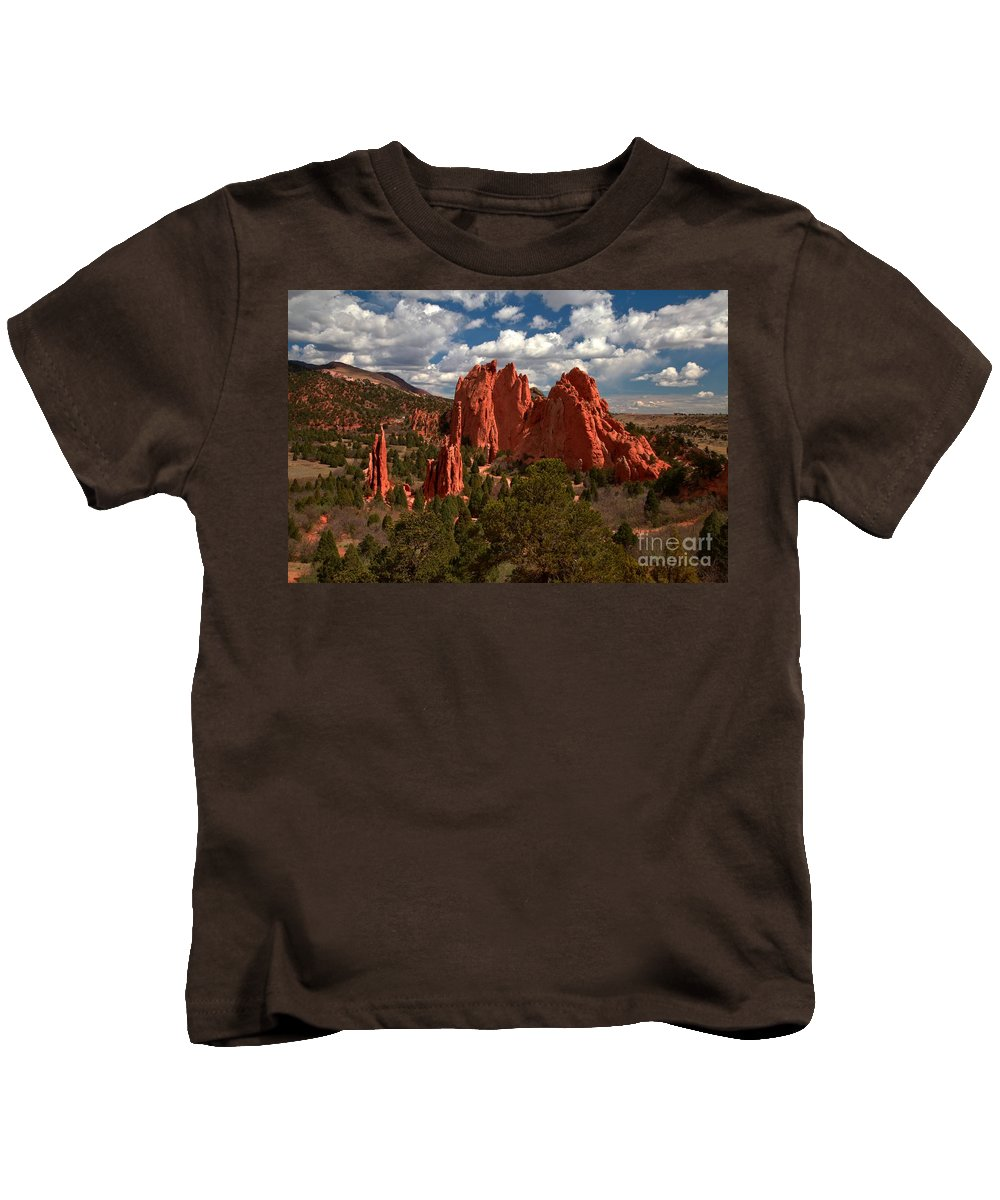 Sunrise At Garden Of The Gods Kids T-Shirt featuring the photograph Garden Of The Gods Afternoon by Adam Jewell