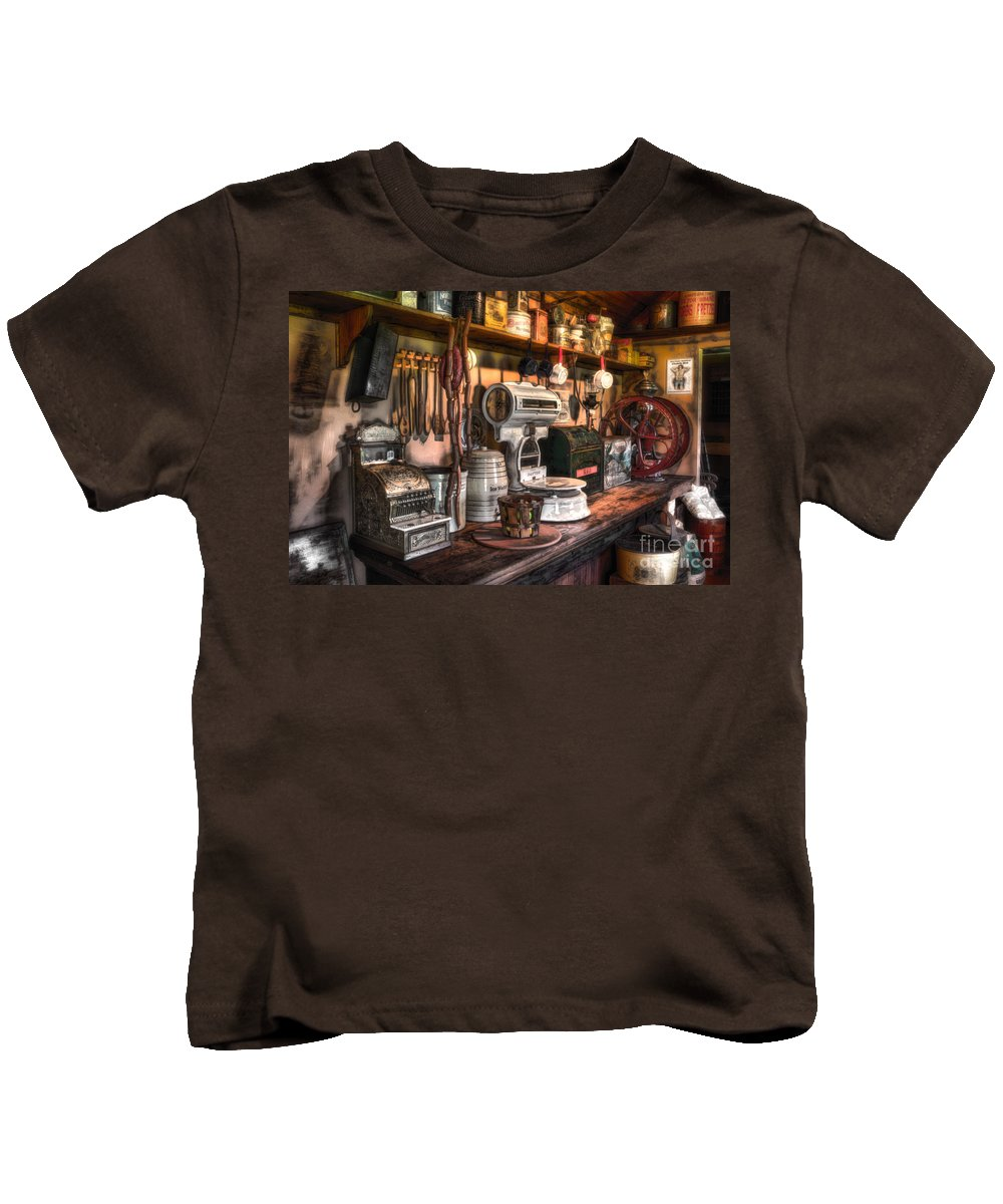 New Jersey Kids T-Shirt featuring the photograph General Store by Jerry Fornarotto