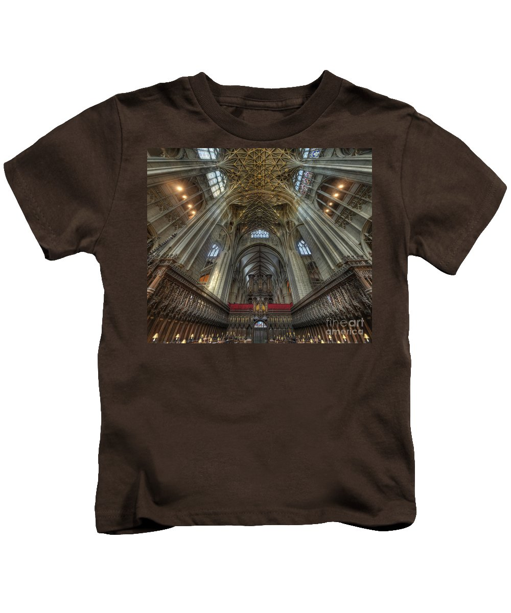 Hdr Kids T-Shirt featuring the photograph Gloucester Cathedral 2.0 by Yhun Suarez
