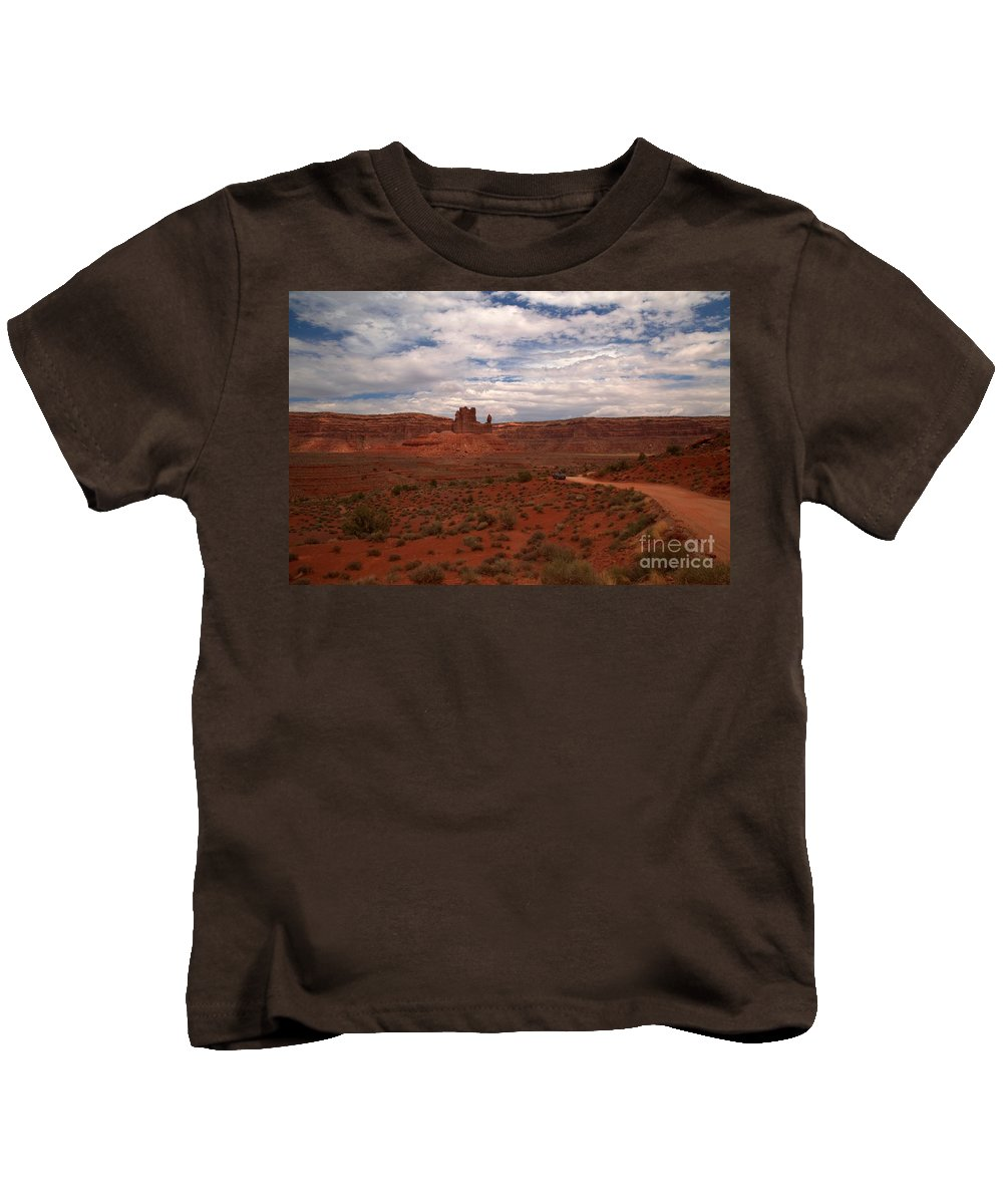 Garden Of The Gods Kids T-Shirt featuring the photograph Gods In The Distance by Adam Jewell