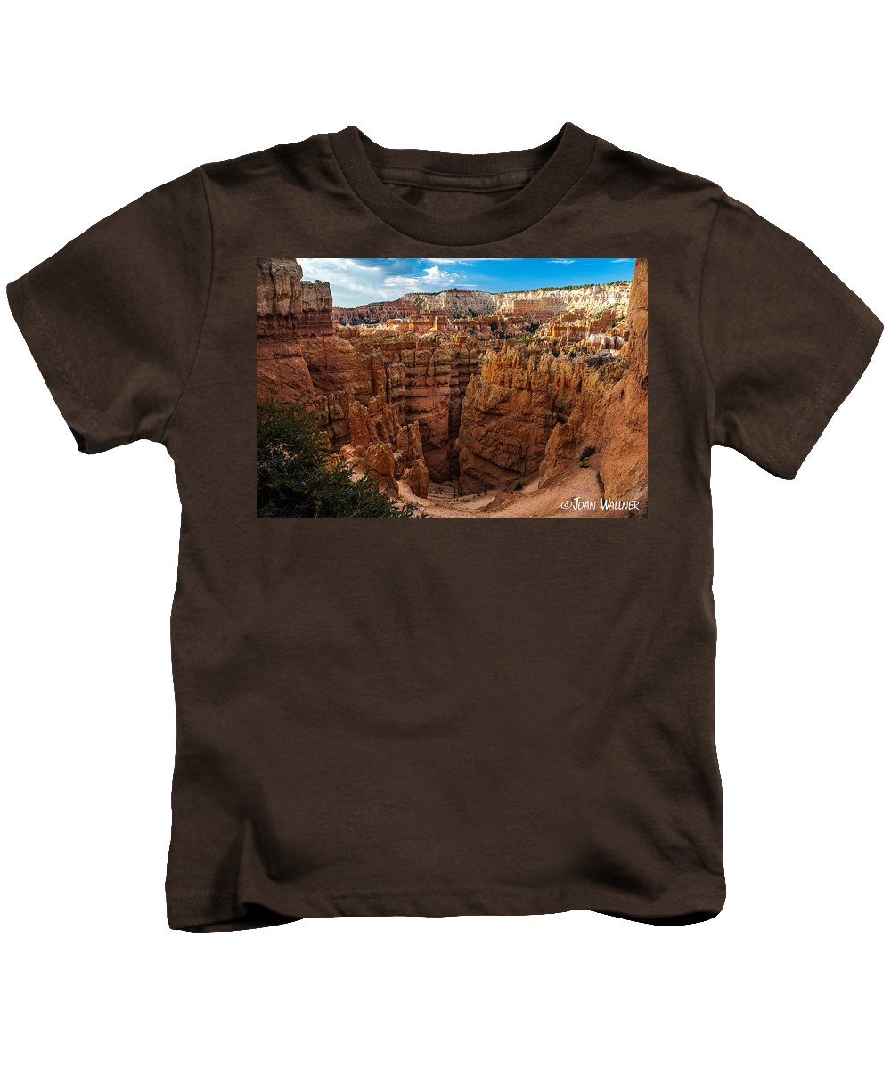 Bryce National Park Kids T-Shirt featuring the photograph Going To Wall Street by Joan Wallner
