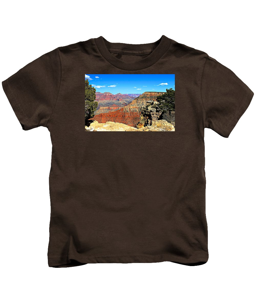 Canyons Kids T-Shirt featuring the photograph Grand Canyon - South Rim by Barbara Zahno