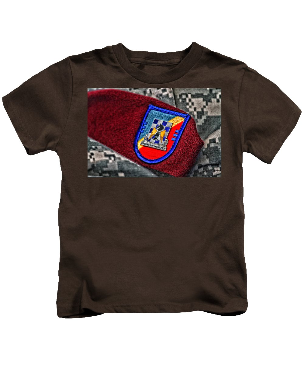 Ground Air Mobility Kids T-Shirt featuring the photograph Ground Air Mobility by Karol Livote