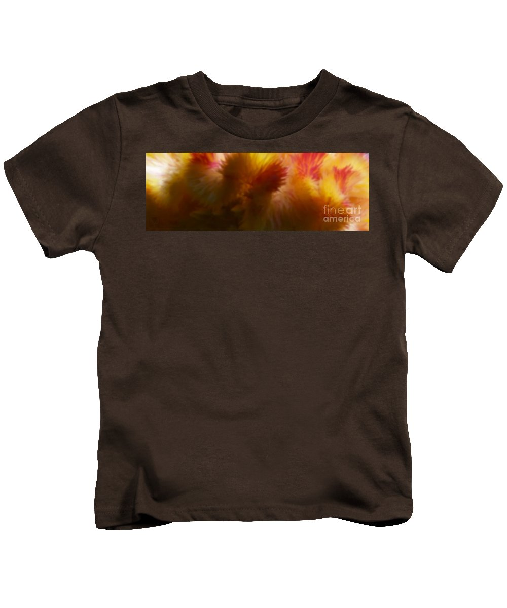 Cocks Cone Kids T-Shirt featuring the photograph H Na Cocks Cone Gold by Dale Crum