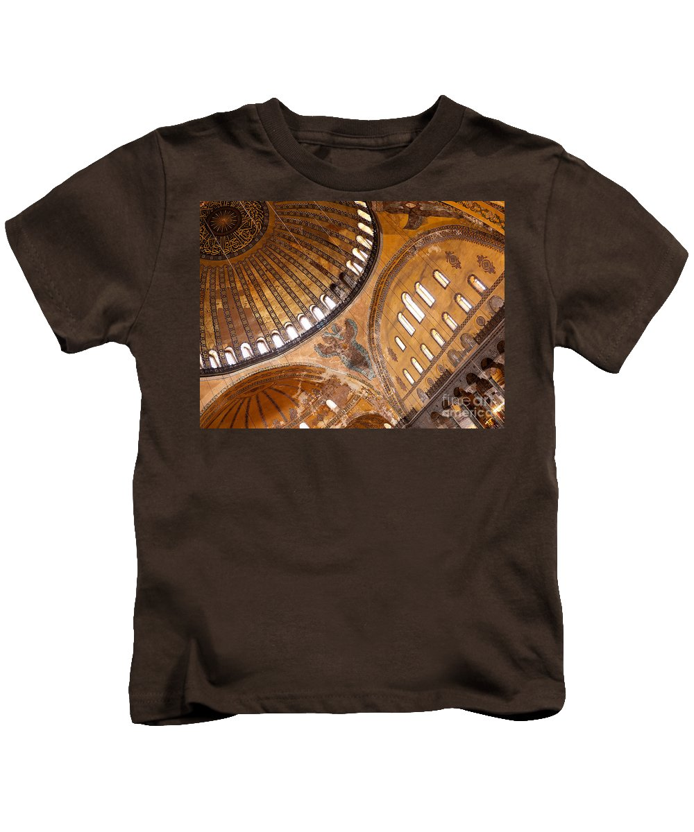 Istanbul Kids T-Shirt featuring the photograph Hagia Sophia Dome 01 by Rick Piper Photography