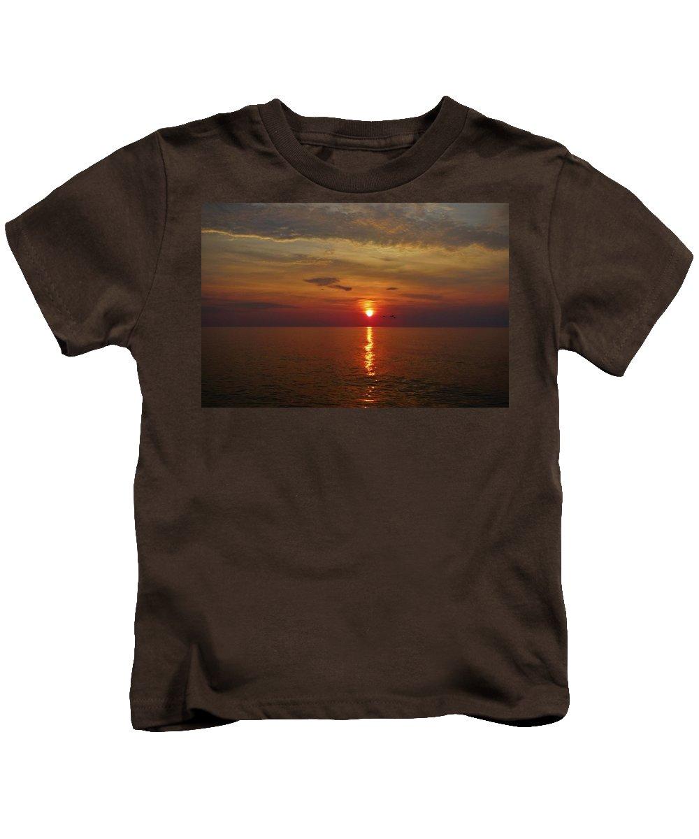 Mark Lemmon Cape Hatteras Nc The Outer Banks Photographer Subjects From Sunrise Kids T-Shirt featuring the photograph Hatteras Island Sunrise 8/18 by Mark Lemmon