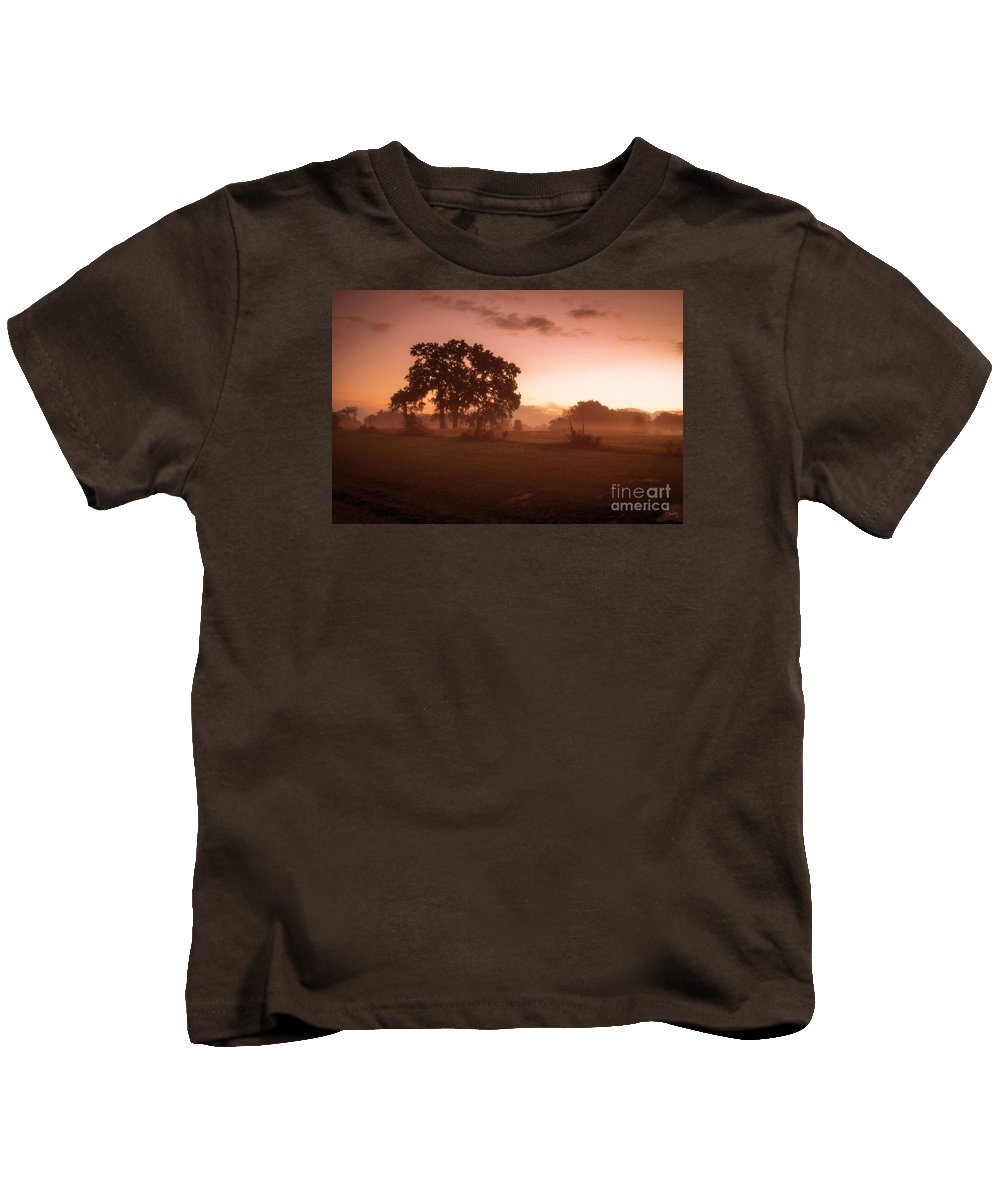 Hazy Morn Kids T-Shirt featuring the photograph Hazy Morn by Imagery by Charly