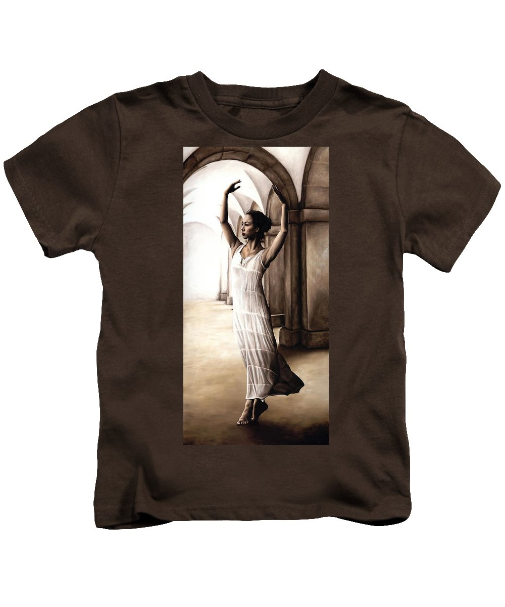 Heaven Kids T-Shirt featuring the painting Heaven's Angel by Richard Young