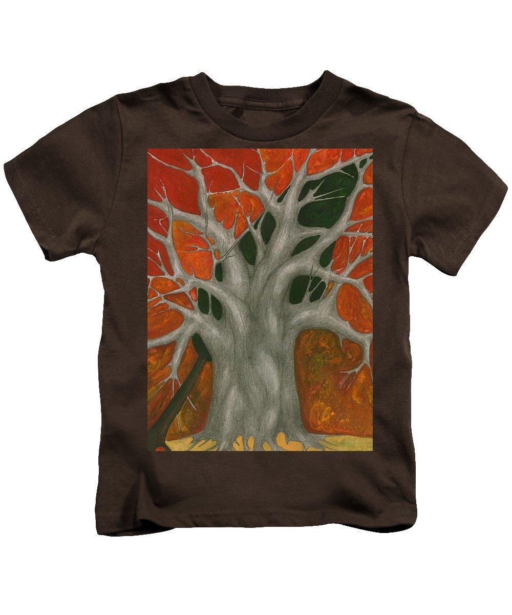 Colour Kids T-Shirt featuring the painting Help Me by Wojtek Kowalski