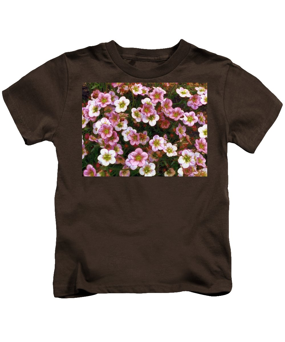 Blossoms Kids T-Shirt featuring the painting Here's Flowers For You by RC DeWinter