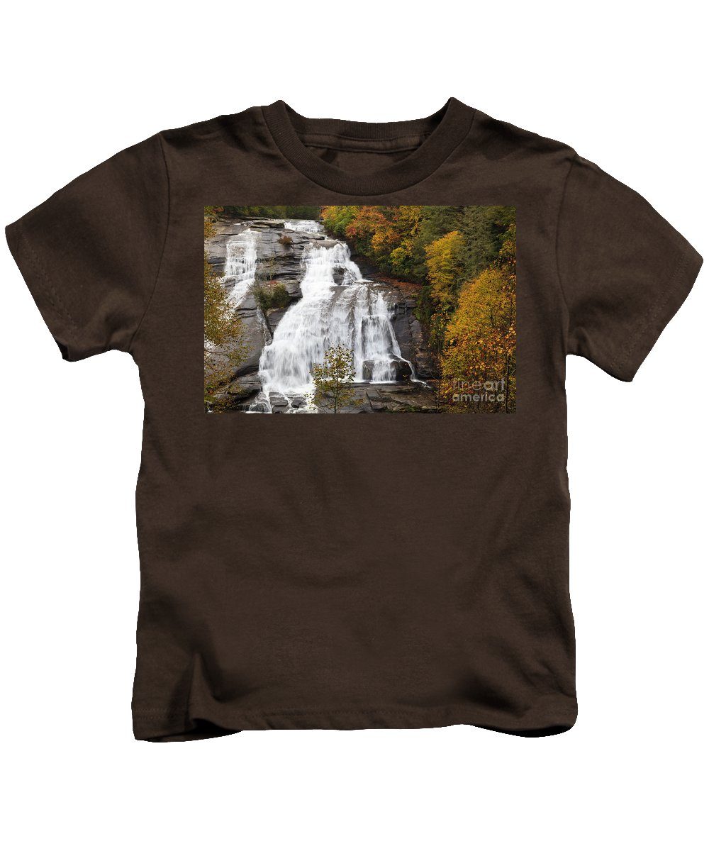 High Kids T-Shirt featuring the photograph High Falls In The Dupont State Forest by Jill Lang